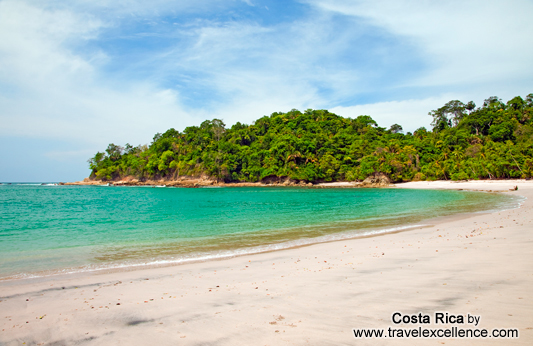 view of the manuel antonio beach in the national park