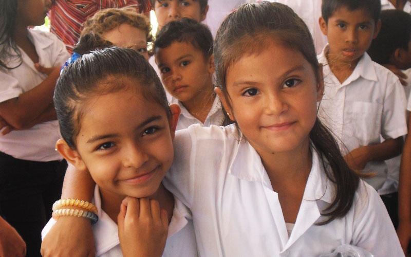 Costa Rican kids attending to Public School