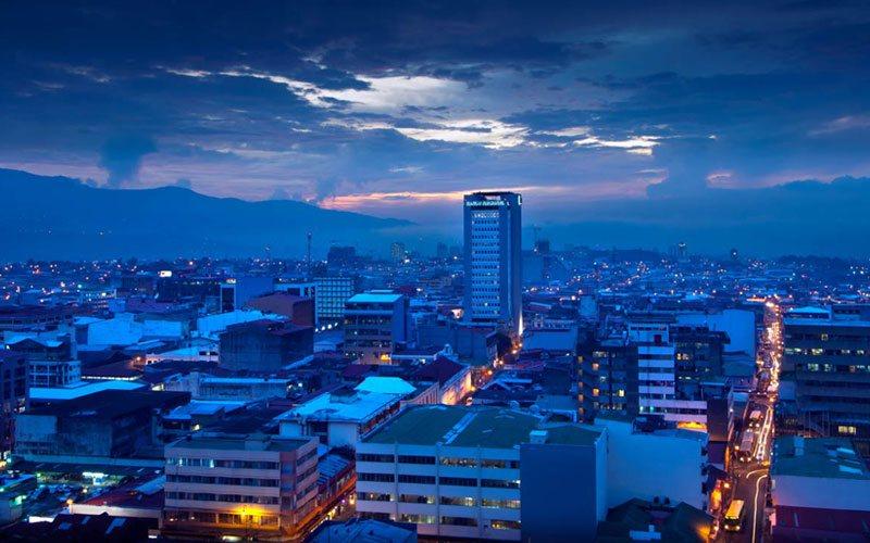 Night view from San José, Costa Rica