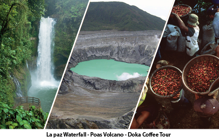 La Paz Waterfall, Poas Volcano, Doka Coffee Tour