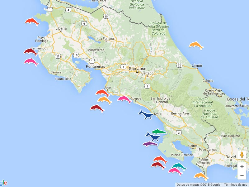 Costa rica maps image alternative text the warm waters of costa ricas gumiabroncs Images
