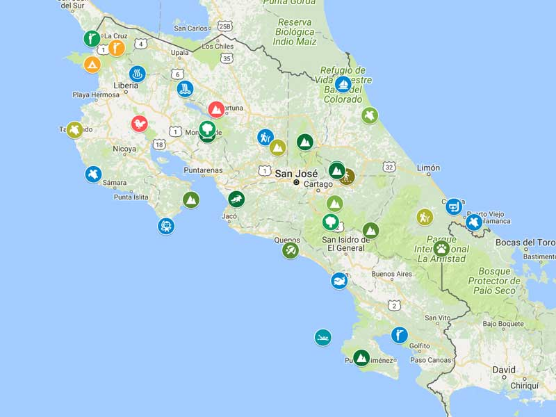 Costa Rica Maps, Tour Operator in Costa Rica