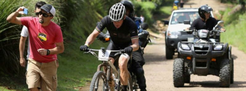 Lance Armstrong in Costa Rica for the toughest mountain bike race