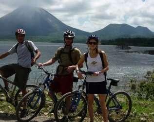 Volcano And Lake Biking