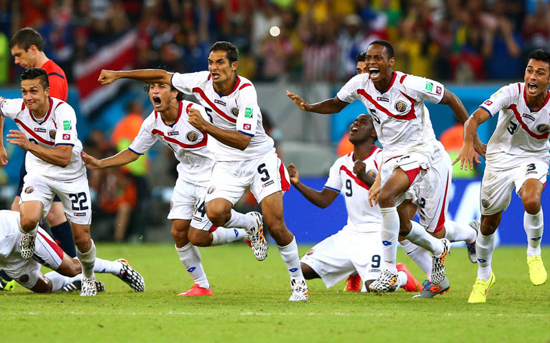 Costa Rican players, World Cup Brazil 2014