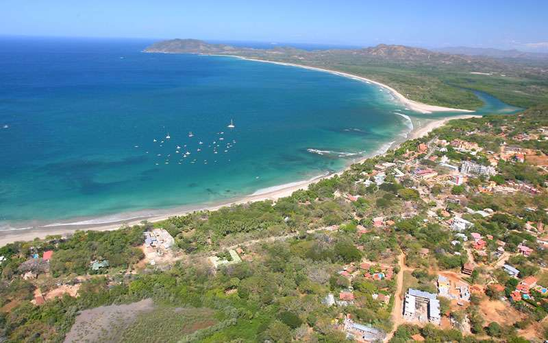Tamarindo Beach aerial view
