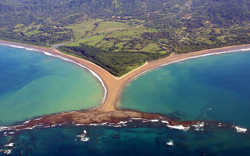 Marino Ballena National Park in Costa Rica.