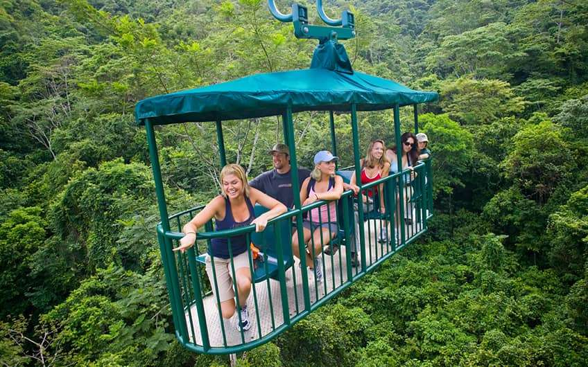 Jaco Beach Costa Rica, Gondola overlooking the forest