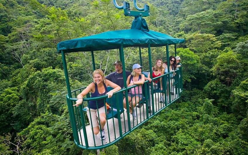 Jaco Beach Costa Rica, Gondola overlooking the forest