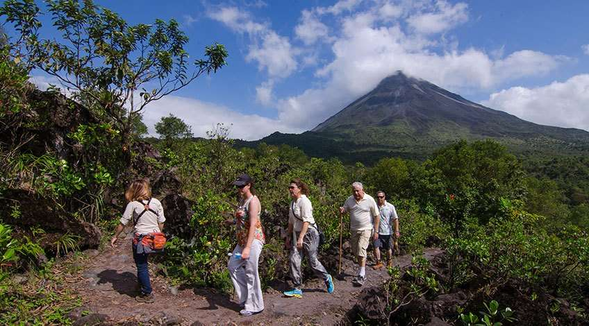 Hiking in Arenal Volcano at Fortuna Costa Rica