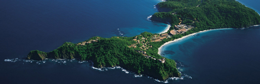 aerial view of the four seasons resort in papagayo costa rica