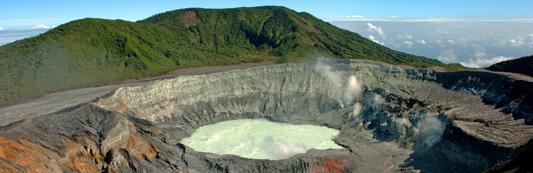 poás volcano located in Cartago Costa Rica