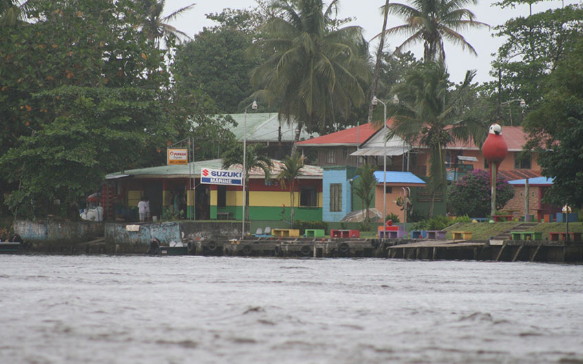 Tortuguero Village in Tortuguero Park and Canal