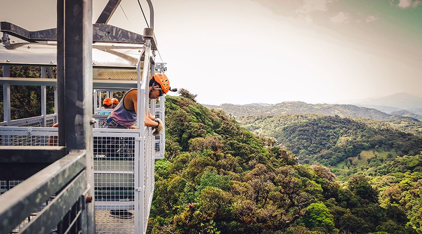 Classic Costa Rica Vacation Packages: visit Monteverde Cloud Forest Sky Tram in Sky Adventure