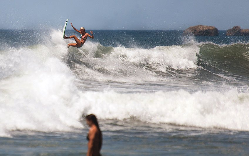 Costa Rica Surfing Map most popular surfing destinations