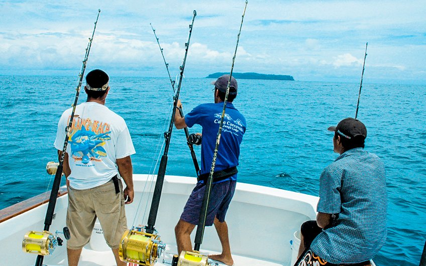 Costa Rica Sport Fishing Map Central Pacific Coast Fishing