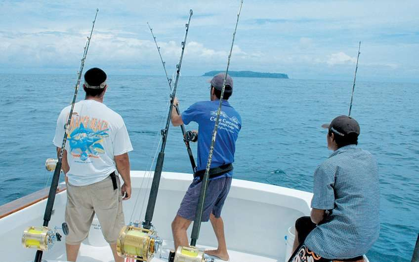 This is what fishing charters in Guanacaste Costa Rica look like. This is one of the popular things to do here.