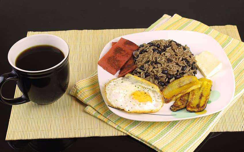 Typical Food Costa Rica  Gallo Pinto in Beakfast