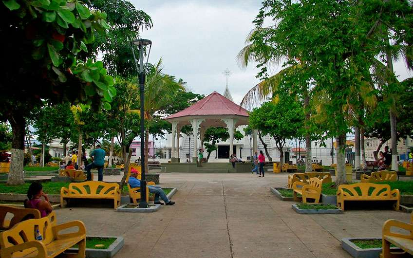 The park in Liberia Guanacaste Costa Rica has the colorful and vibrant spirit of the locals and is a space for relaxing, chatting, and taking beautiful photos.