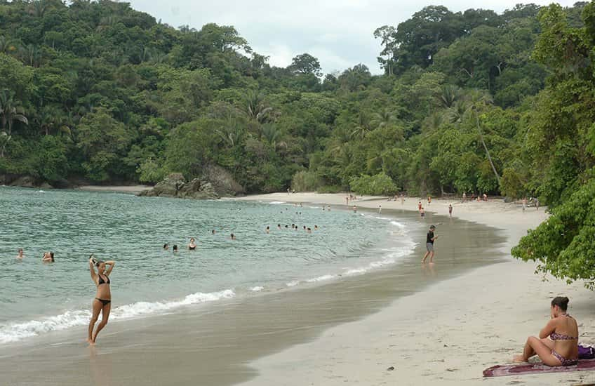 Getting to the main beaches of Costa Rica from San Jose is easy as there are several beautiful beach places near the city. In the photo, Manuel Antonio beach.
