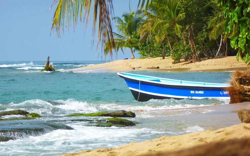 Beach in Caribbean, Costa Rica