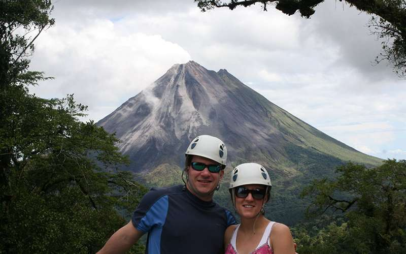 Couple at La Fortuna, Arenal Volcano