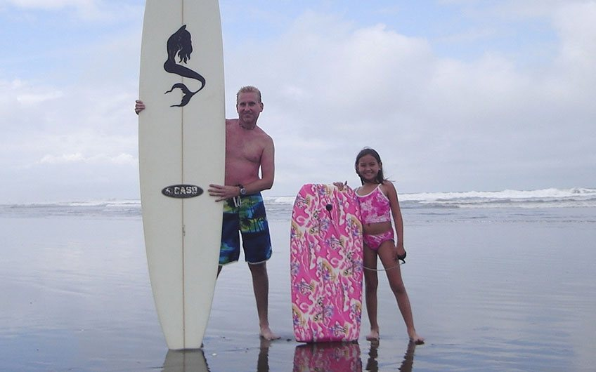 Surfing Family vacation in Costa Rica