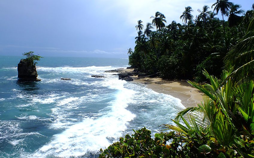 Manzanillo Beach in Costa Rica.