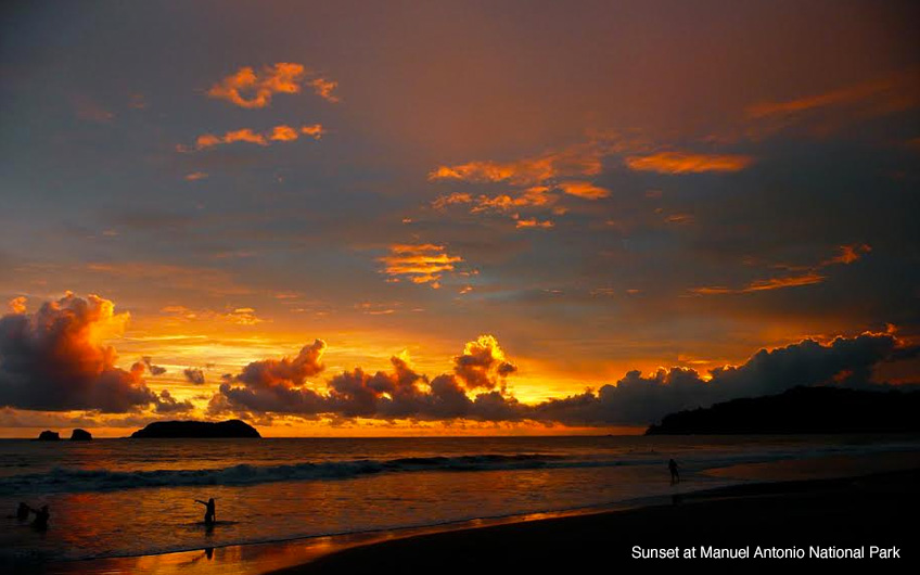 Sunset Manuel Antonio Beach