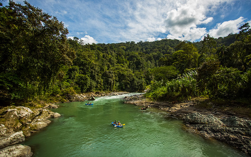 Pacuare River, Travelling with children in Costa Rica