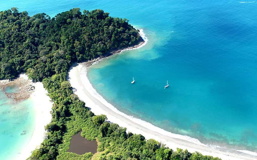 Manuel Antonio Beach in Costa Rica.