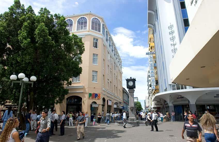 Die Central Avenue ist eine der beliebtesten Attraktionen von San Jose Costa Rica.