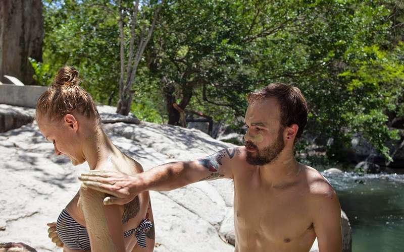 Couple enjoying their honeymoon in Costa Rica