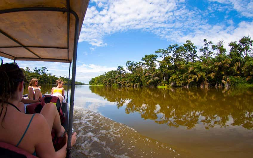 Boat Crossing in Tortuguero Canal