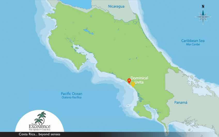 Dominical & Uvita Map