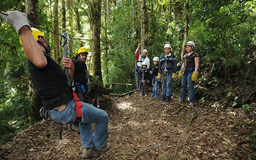 Canopy in San Gerardo de Dota Costa Rica