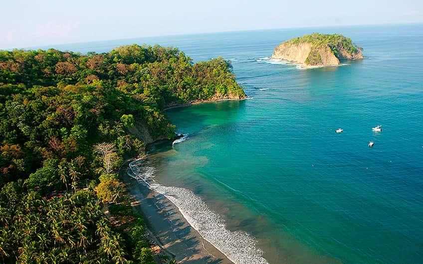 Aerial view Beach Nosara & Samara Costa Rica