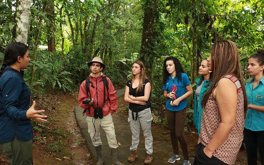 Sarapiquí Costa Rica Travel Guide: Hiking tourn in the jungle tropical in Tirimbina