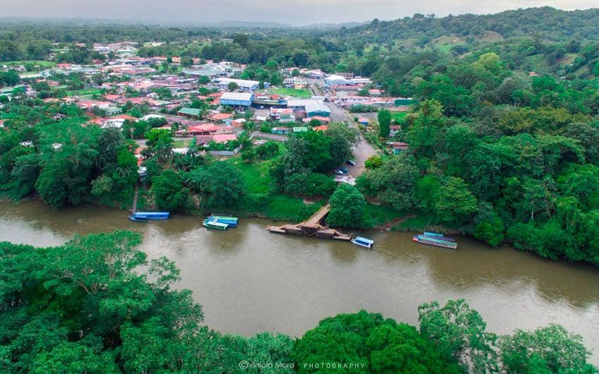 Sarapiquí Costa Rica Travel Guide: Aerial View Puerto Viejo Sarapiquí