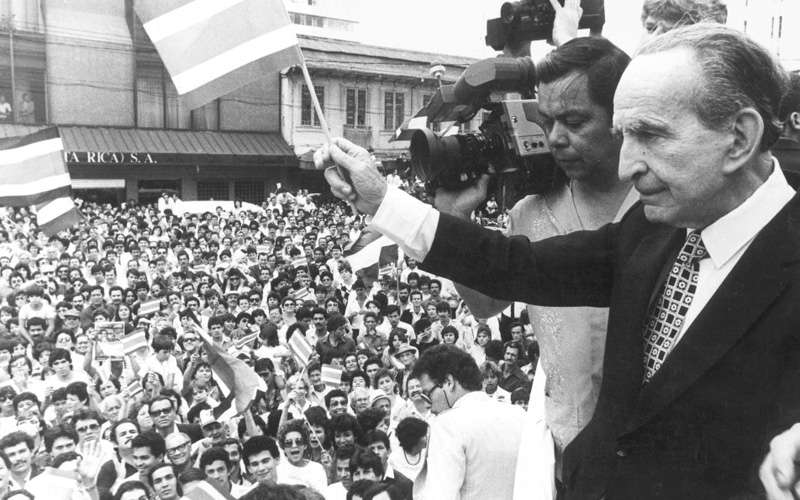On December 1, 1948, President José Figueres Ferrer of Costa Rica abolished the military of Costa Rica after victory in the civil war in that year. In a ceremony in the Cuartel Bellavista, Figueres broke a wall with a mallet symbolizing the end of Costa Rica's military spirit.
