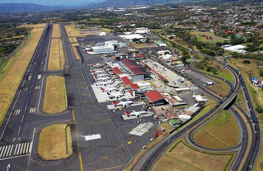 San Jose Costa Rica airport arrivals occur in the Juan Santamaria International Airport located in the neighbouring province of Alajuela.