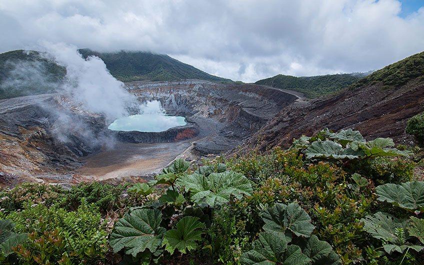 Poas Volcano in Costa Rica.