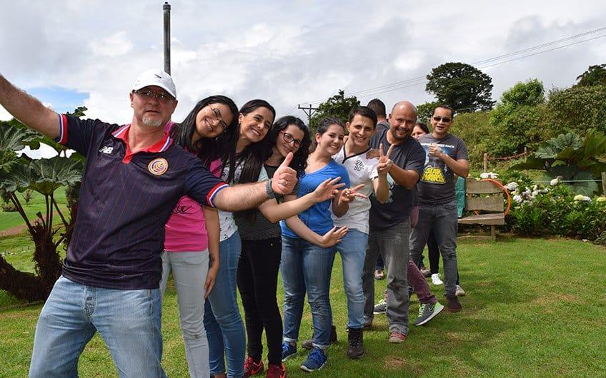 Costa Rica Culture: Friends pura vida expression