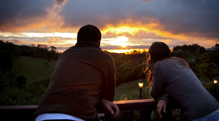 Costa Rica, Monteverde Cloud Forest: Sunset in Couple