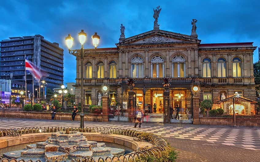 The Costa Rica's National Theater is one of the most emblematic and beautiful buildings of the country and it is located in the heart of the city.