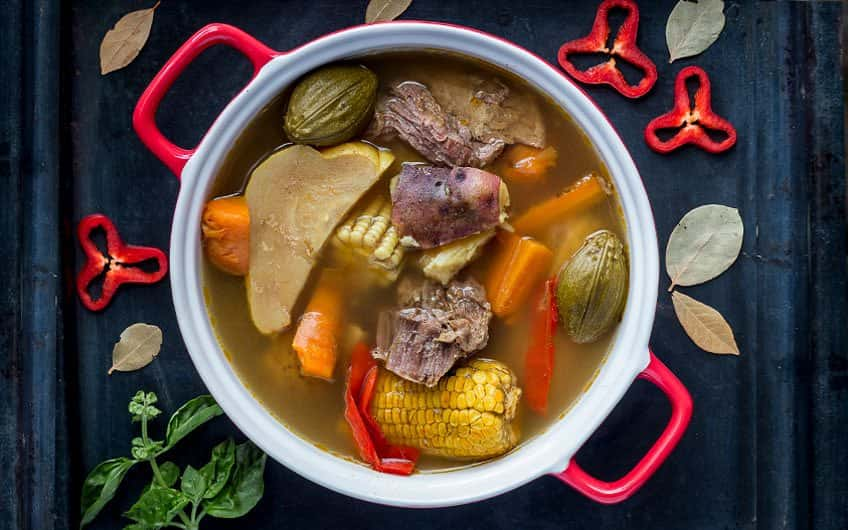The Olla de Carne is one of the most traditional Costa Rica dishes and can be found in the most typical restaurants and sodas of San Jose.