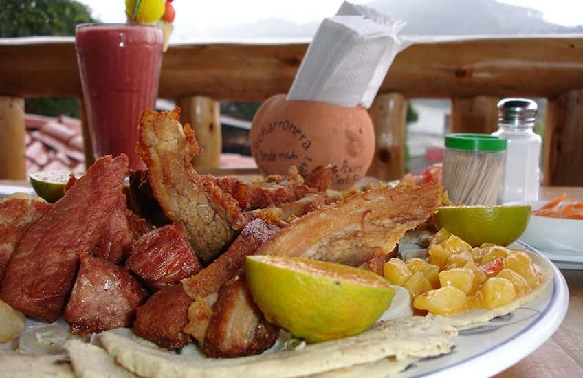Chicharrones are pork served with other delicious snacks and served with the best local beer are an explosive combination for your palate.