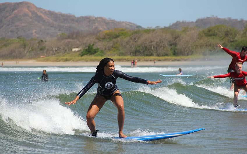Surfing in Tamarindo Area