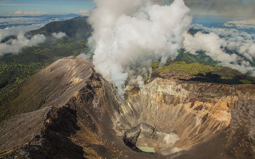 Turrialba Volcano Aerial View