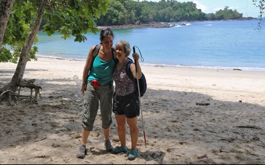 Participants enjoying Manuel Antonio National Park